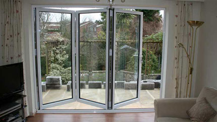 double glazed aluminium bifold doors