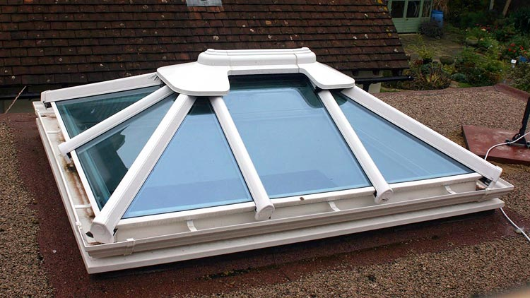 double glazed lantern roof example